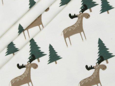 Jersey Single - Hirsch - Wald - natur