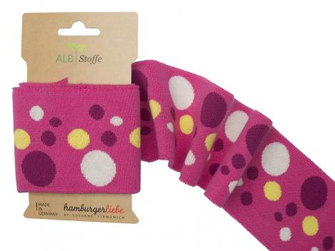 BIO Bündchen - Cuff me Icon - Punkte - Albstoffe - pink