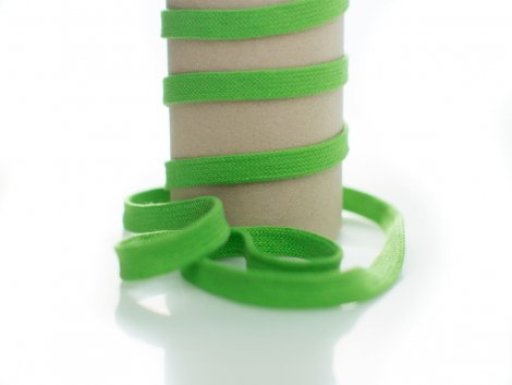 Kordel - 12mm - flach - grasgrün