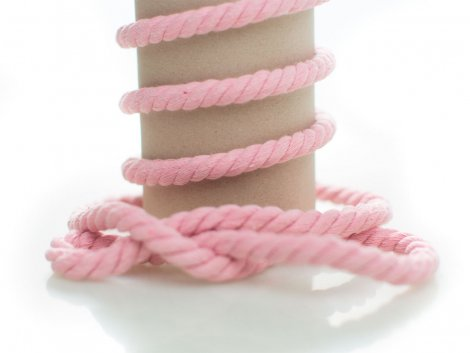 Kordel - 10mm - rund - rosa