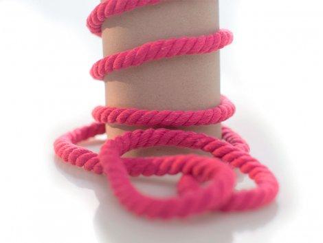 Kordel - 10mm - rund - pink