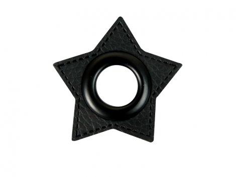 Patch - Herz - 11mm Öse - schwarz - schwarz 11mm