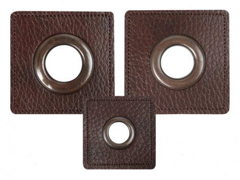 Patch - Quadrat - dunkelbraun - altkupfer