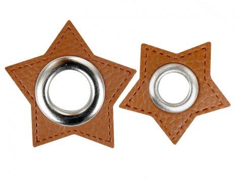 Patch - Stern - braun - silber
