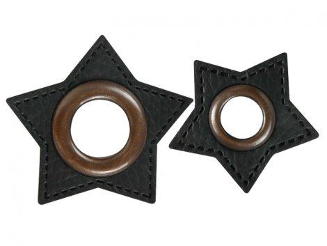 Patch - Stern - schwarz - altkupfer