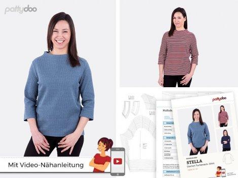 Schnittmuster - Damen Turtleneck Shirt Stella - pattydoo