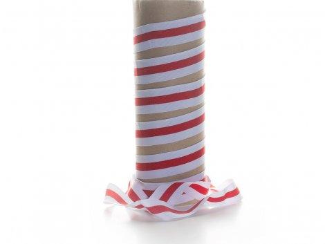 Ripsband - weiß - rot