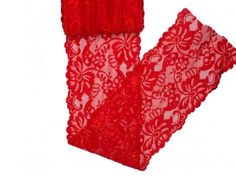 Spitze elastisch - 150mm breit - rot