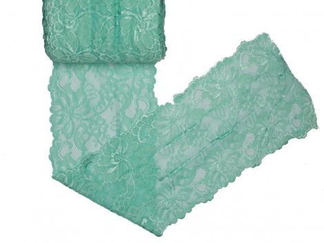 Spitze elastisch - 150mm breit - mint