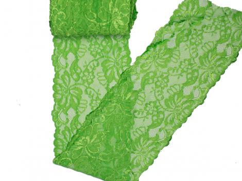 Spitze elastisch - 150mm breit - kiwi