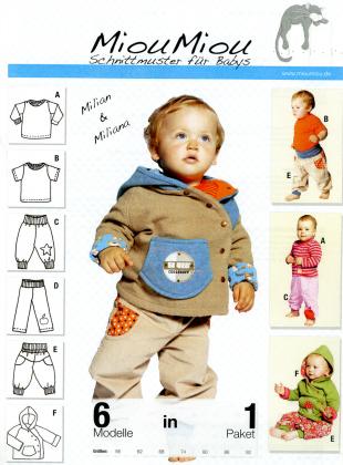 Schnittmuster - Milian & Miliana - Babykleidung - V0405 - Miou Miou