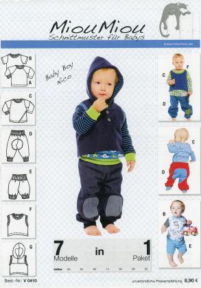 Schnittmuster - Baby Boy Nico - V0410 - Miou Miou
