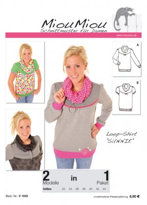 Schnittmuster - Sunnie - Loop-Shirt - V1045 - Miou Miou