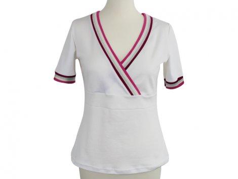 Summer Shirt Kim - inkl. Cuff Me - weiß - Streifen Glam