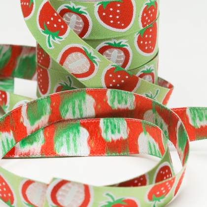 Webband - Strawberry - Hamburger Liebe - grün