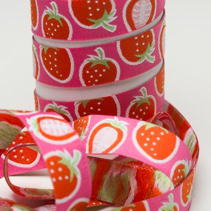 Webband - Strawberry - Hamburger Liebe - pink