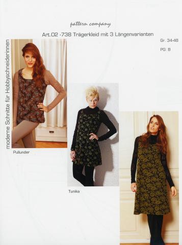 Schnittmuster - Trägerkleid - 02-738 - Pattern Company