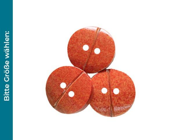 Knopf - aus Bambusmaterial - 2-Loch - orange