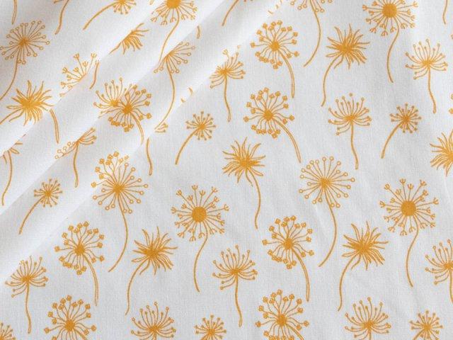 Popeline - Pusteblume -  Stenzo  - weiß - gelb