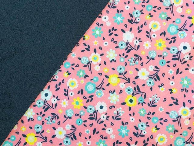 Softshell - Blüten - rosa - weiß - gelb