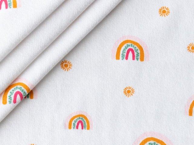 Bio Sweat - Regenbogen - Sonne - weiß