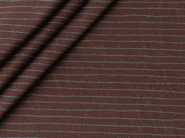 Jersey Single - feine Streifen - Stenzo - grün-grau auf braun