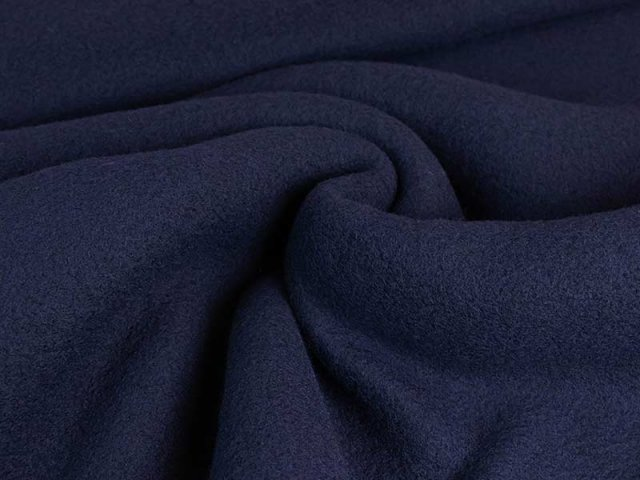 Merino Fleece - Bobby -  navy
