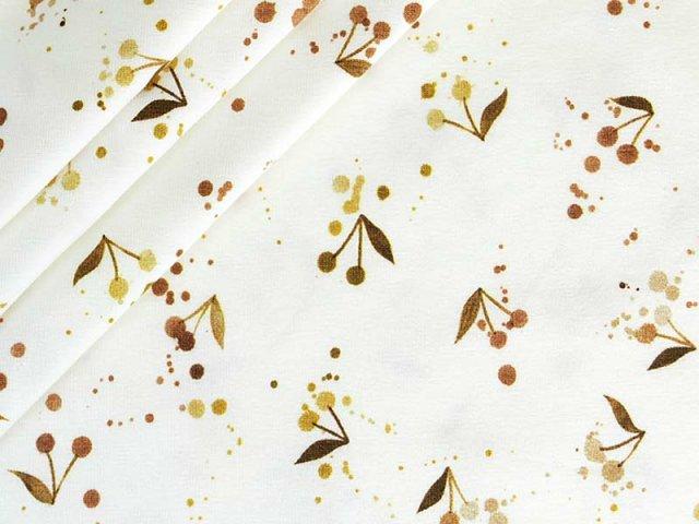 Jersey Single - Watercolour - golden Cherries