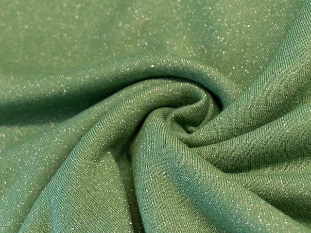 Sweat - grün - Glitzer - angeraut
