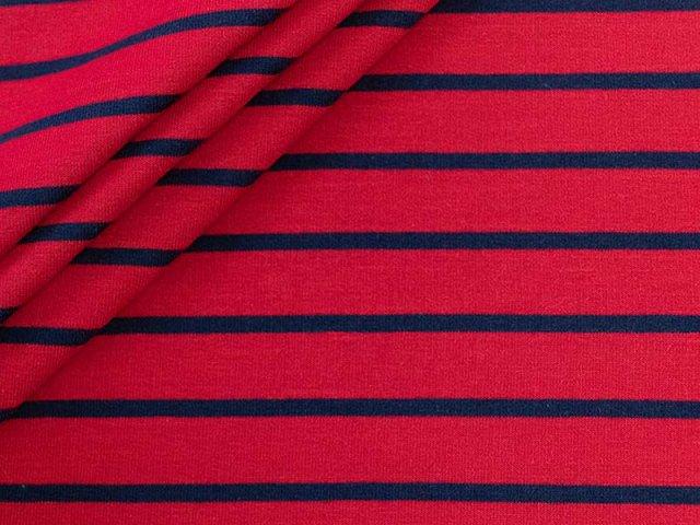 Sweat - Streifen  - rot - navy