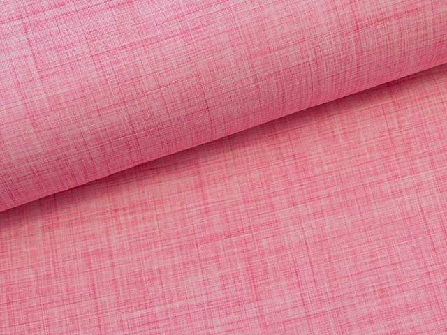 Jersey Single Melange Druck in rosa