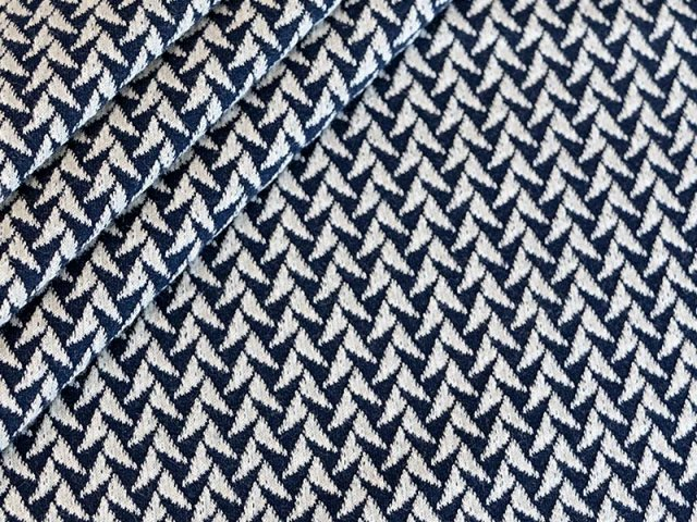 BIO Jacquard - IN and OUT Knit - Shine collection - Hamburger Liebe - Albstoffe - navy - schwarz