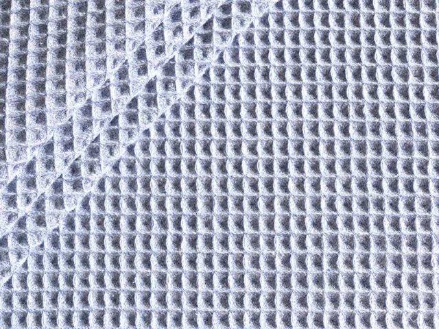 Baumwoll Waffelpiqué - melange - blaugrau