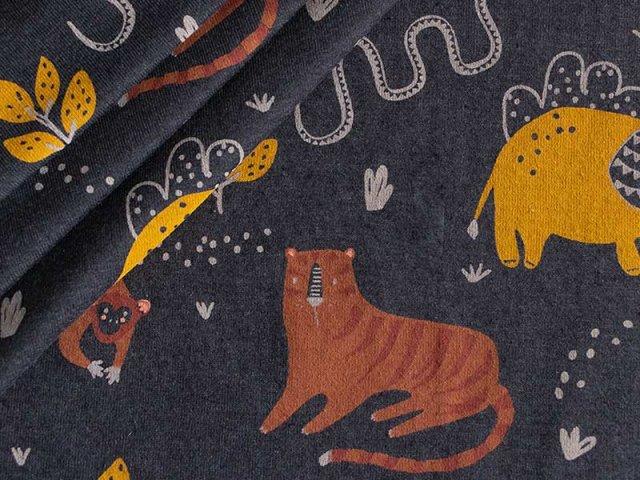 Jersey Single - schwarz - Wild - Animals - Löwe - Affe