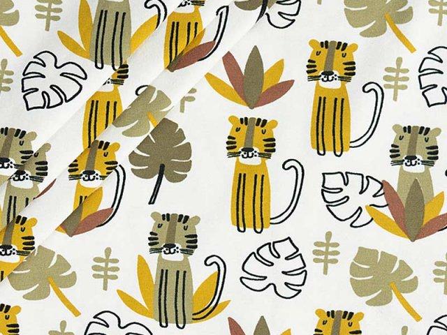 Baumwolle mit Dschungel Motiv  - Stenzo