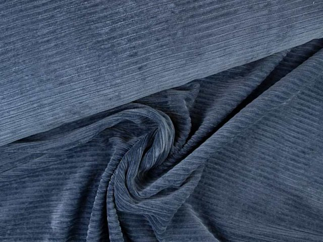 Cord Jersey - jeansblau