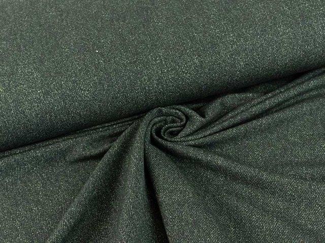 Bio French Terry - Jeans - Optik - dunkelgrün