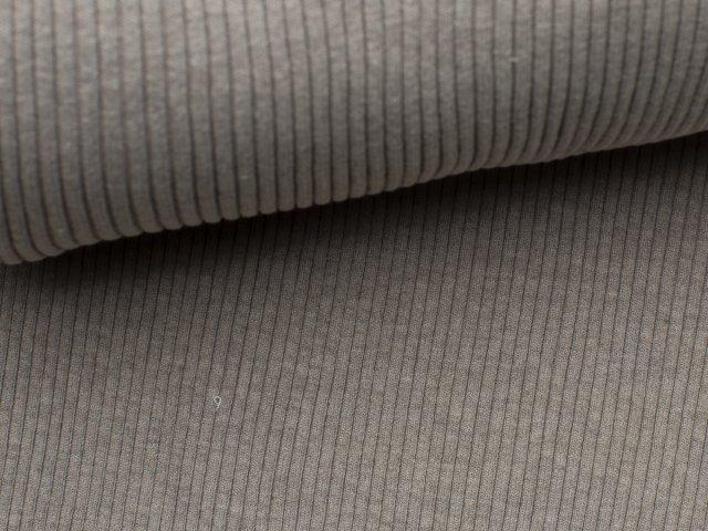 Bündchen Hipster Grobstrick - uni - beige - grau meliert