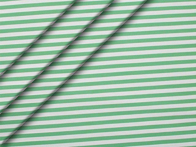 Popeline - Streifen - grün - weiß