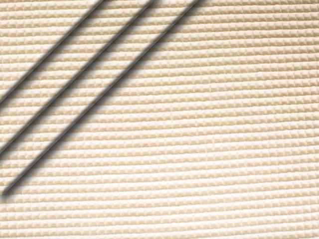 Reststück 0,75m - Baumwoll Waffelpiqué - ecru