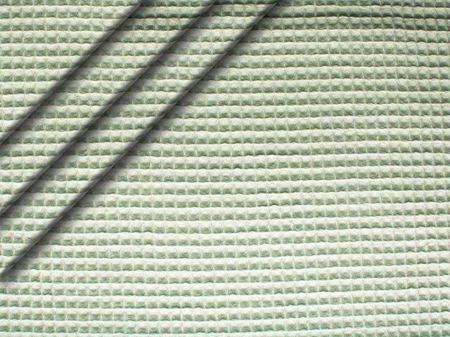 Baumwoll Waffelpiqué - mint-grau hell
