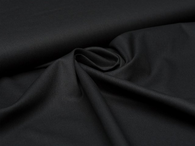 BIO Popeline - uni - schwarz