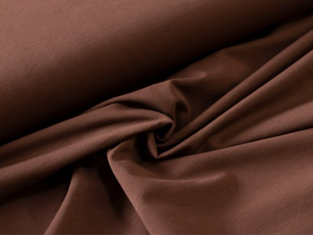 BIO Jersey Single  - braun - einfarbig