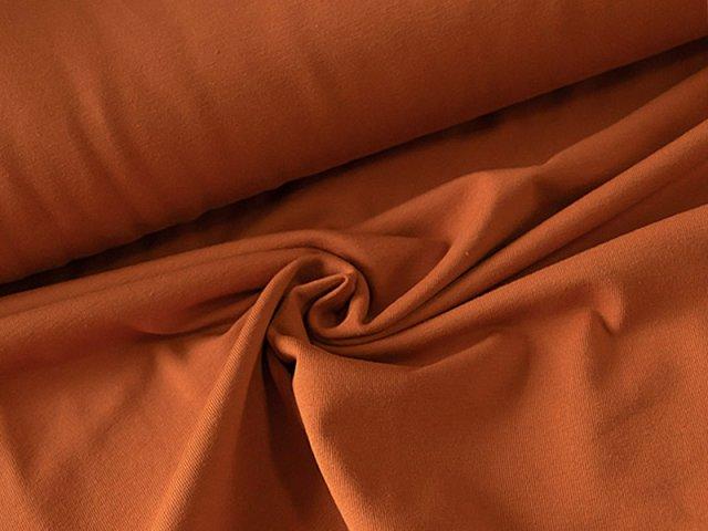 BIO Jersey Single - rost - einfarbig