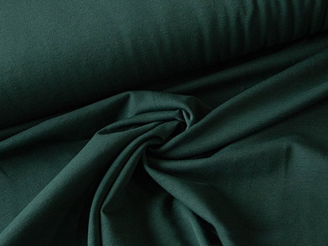 BIO Jersey Single - dunkelgruen - einfarbig