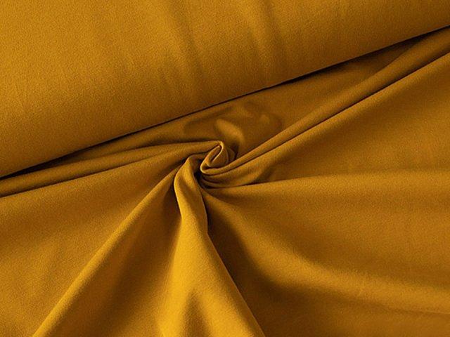 BIO Jersey Single - senf - einfarbig
