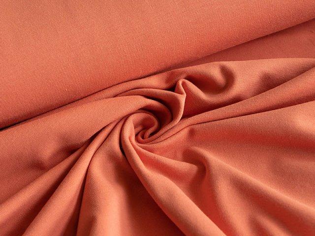 BIO Jersey Single - aprikot - einfarbig