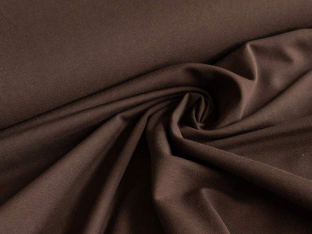 BIO Jersey Single - dunkelbraun - einfarbig