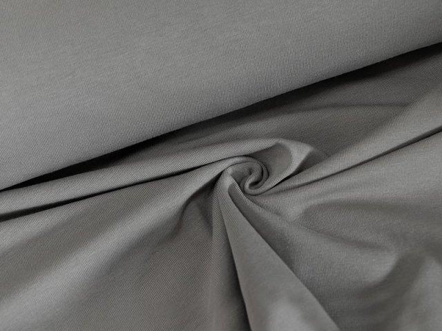 BIO Jersey Single - grau - einfarbig