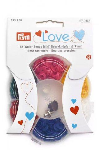 'Color Snaps Mini' Druckknöpfe  - 9mm - Prym Love - mehrfarbig